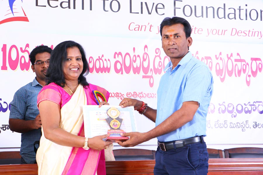 Awards from our Learn To Live Foundation