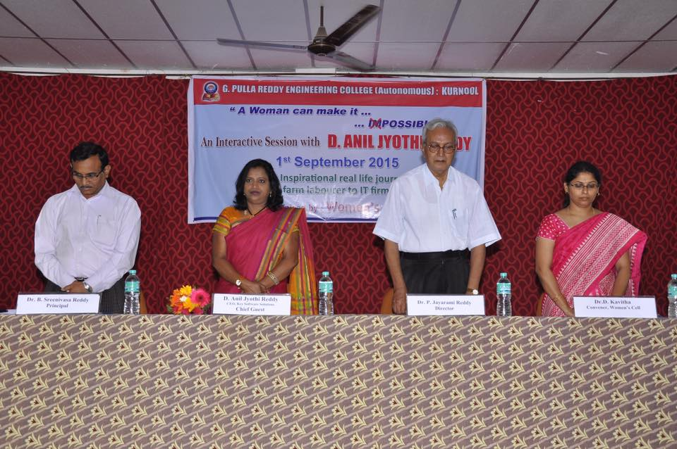 Interaction with PULLA REDDY ENGINEERING COLLEGE