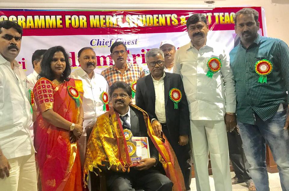 Glad to Give Meritorious Awards to 10/10 and Highest Score in the 10th Class and Best Teachers Awards Program by Jyothi Reddy Foundation at Warangal