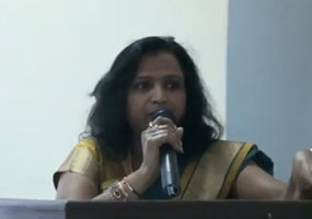 Jyothi Reddy addressing professional students of SITAM, vizianagaram