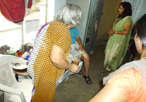 Visited Old age home